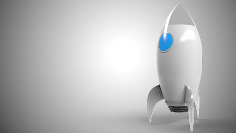 Logo of NISSAN on a toy rocket. Editorial conceptual success related animation Live Action