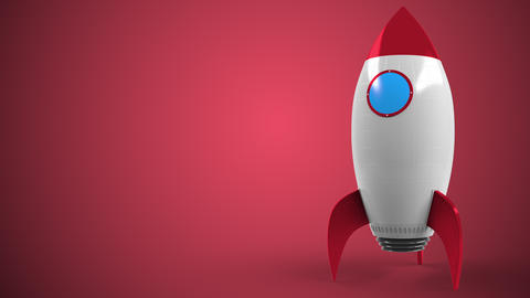 Logo of JOHNSON AND JOHNSON on a toy rocket. Editorial conceptual success Live Action