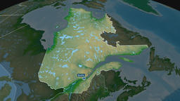 Quebec - province of Canada. Physical Animation