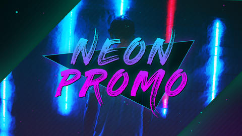 Neon Glow Promo After Effects Template
