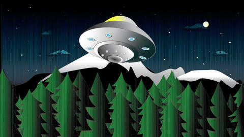 UFO Abducts Cow! Animation