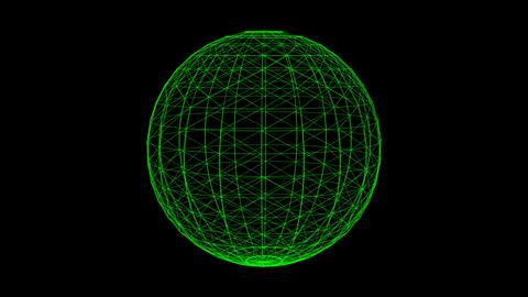 Plexus style rotate sphere animation Animation