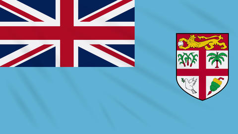 Fiji flag waving cloth background, loop Animation