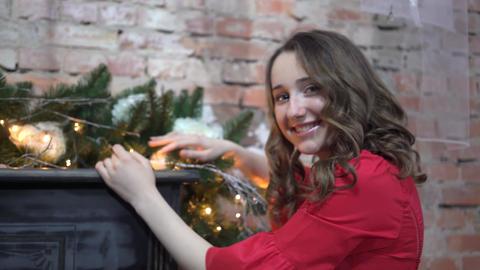 Girl Celebrating Christmas Live Action