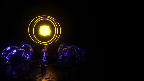 3d rendering of the abstract alien generator Animation