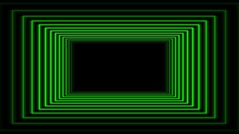 Futuristic Green Tunnel Flight Animation with Neon lights Animation