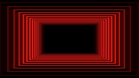 Futuristic Red Tunnel Flight Animation with Neon lights Animation