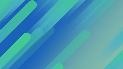 Animated Beautiful Abstract Blue and Green Coloured Geometric Shapes on gradient background Animation