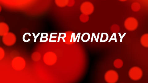 Cyber Monday sales banner with red bokeh animated background Animation