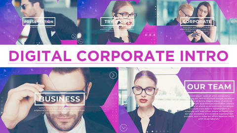 Digital Corporate Intro After Effects Templates