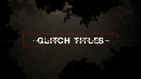 Glitch Titles After Effectsテンプレート