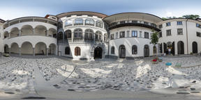 A typical courtyard in Ljubljana VR 360° Photo