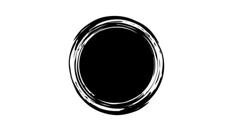 Drawing a black ink circle Live Action