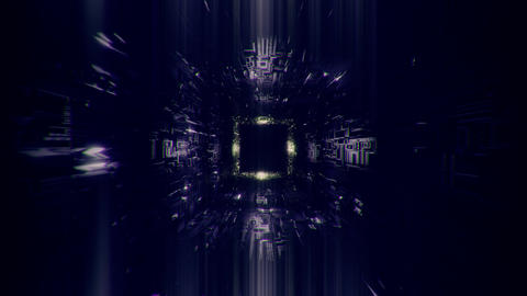 technic technology space tunnel background wallpaper 3d…, Stock Animation