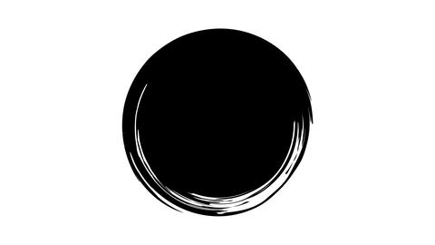 The appearance of a round ink spot on a transparent background Live Action