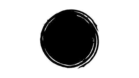Ink Round Stain on alpha channel Live Action