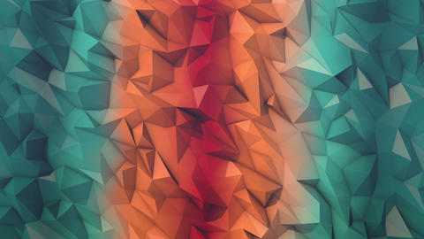 Fire and ice low poly background loop GIF