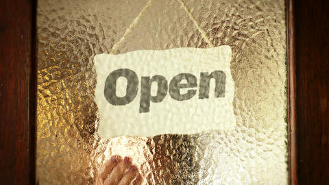 Open To Closed Sign Title Screen Animation