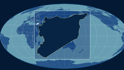 Syria - 3D tube zoom (Mollweide projection). Solids Animation