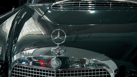 Old preserved retro mercedes car brand GIF