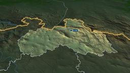 Liberecky - region of Czech Republic. Physical Animation
