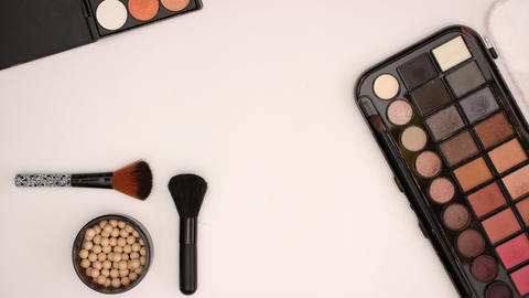 Make up Beauty products Eye shadows and lipsticks - stop motion animation Animation