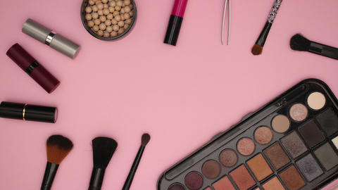 Make up Cosmetics Beauty products and tools - Stop motion animation Animation