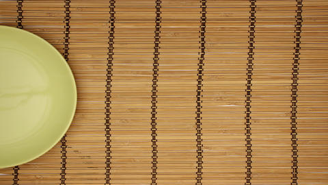 Table Setting on wooden background - Stop motion animation Animation