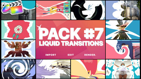 Liquid Transitions Pack 07 Apple Motion Template