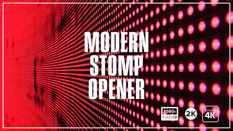 Modern Stomp Opener After Effects Template