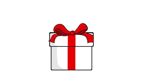 Gift open and surprise word Animation