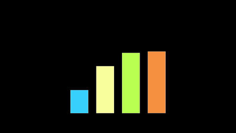 Bar chart animated on alpha channel background Animation