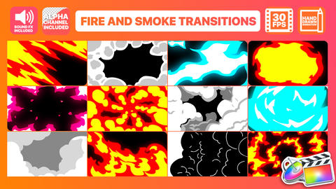 Fire And Smoke Transitions Plantilla de Apple Motion