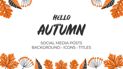 Hello Autumn. Hand Drawn Pack After Effects Template