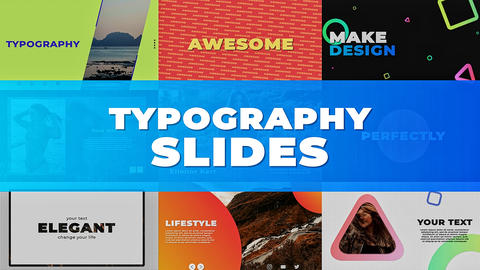 Typography Slides After Effects Template