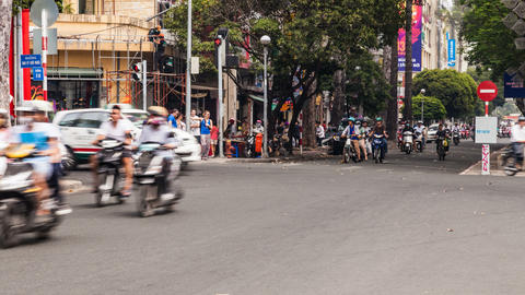 4k - Timelapse of Traffic in Ho Chi Minh City Stock Video Footage