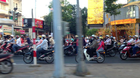 Panning in Traffic in Ho Chi Minh City Stock Video Footage