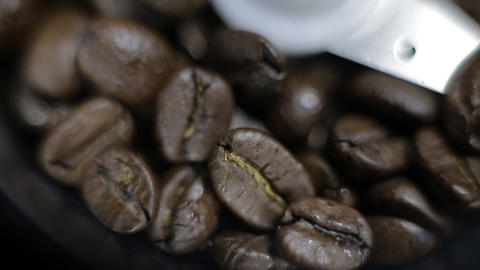 Coffee Grinder panorama Stock Video Footage