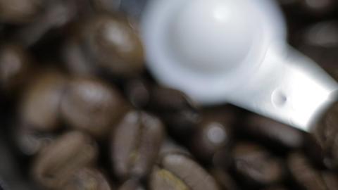 Coffee Grinder panorama Stock Video Footage