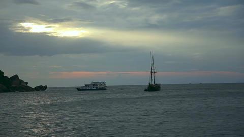 Evening seascape Stock Video Footage