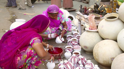 Indian pottery Footage