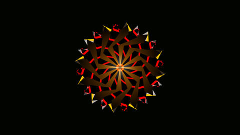 radial array colorful Stock Video Footage