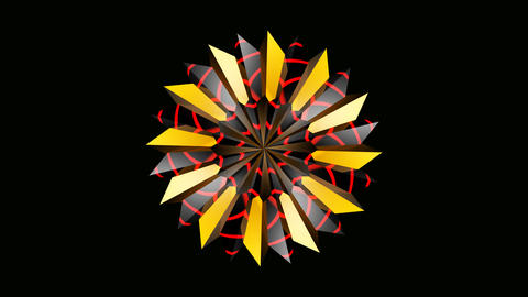 radial array colorful Animation
