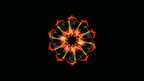 colorful tribal flower Stock Video Footage
