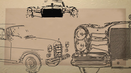 old Car postcard Animation