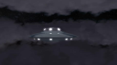 Ufo moon cloud Animation