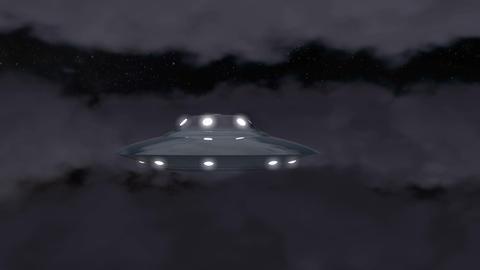Ufo moon cloud Stock Video Footage
