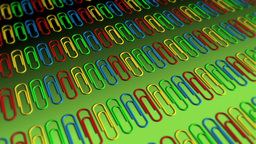 Paper Clips in Rows - Paperclips 04 (HD) Stock Video Footage