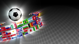 Soccer International Flags Sport Background 50 (HD) Stock Video Footage