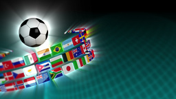 Soccer International Flags Sport Background 52 (HD) Stock Video Footage
